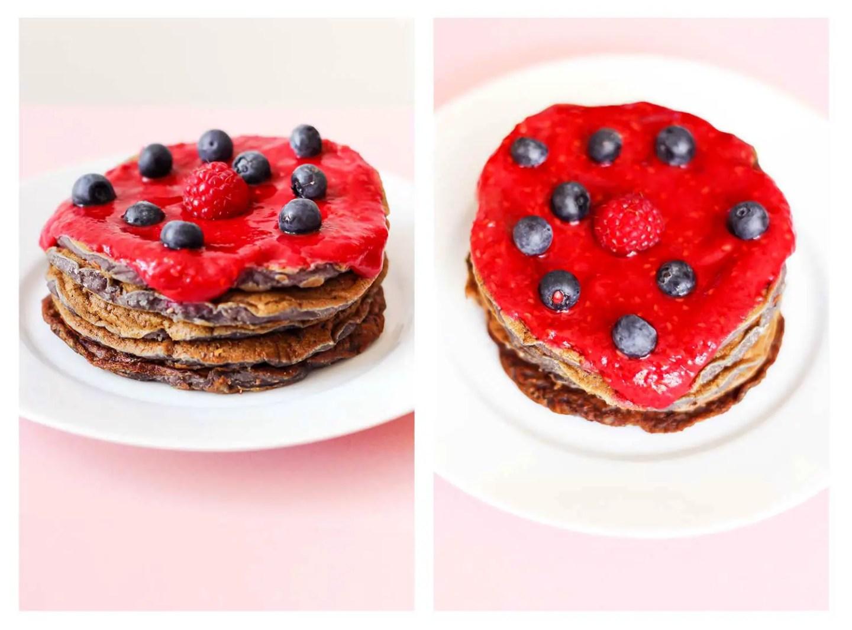 Recette de pancakes aux framboises