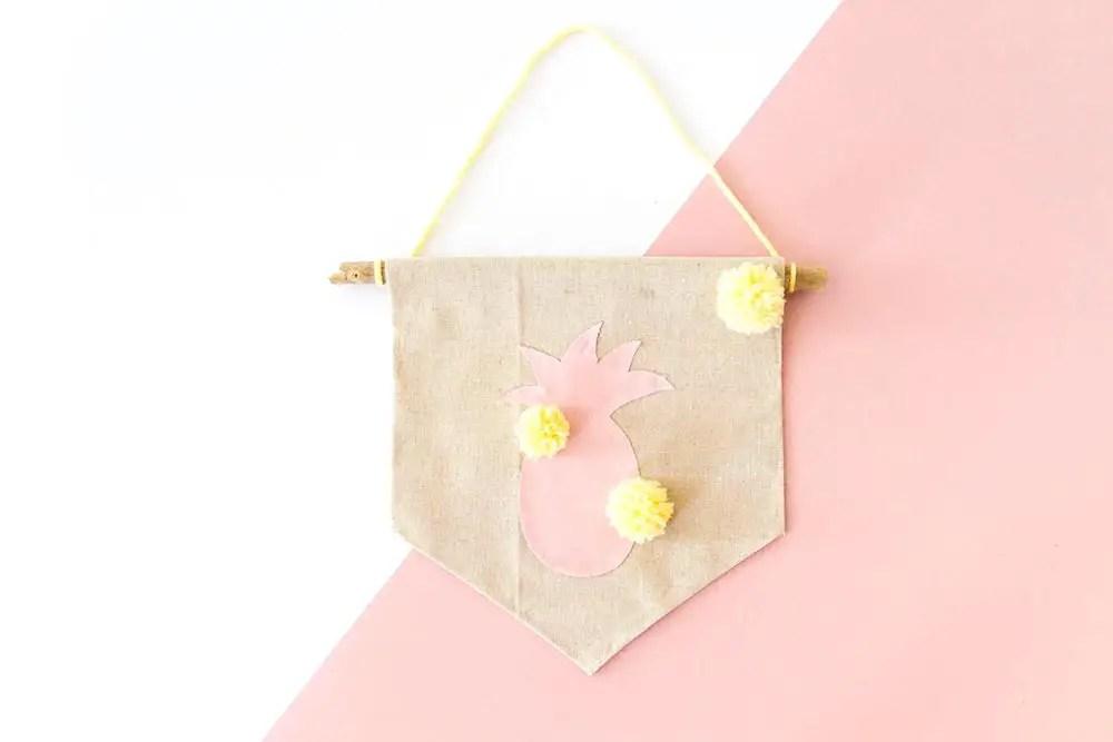 DIY : Créer un fanion ananas – une jolie décoration pour l'été !
