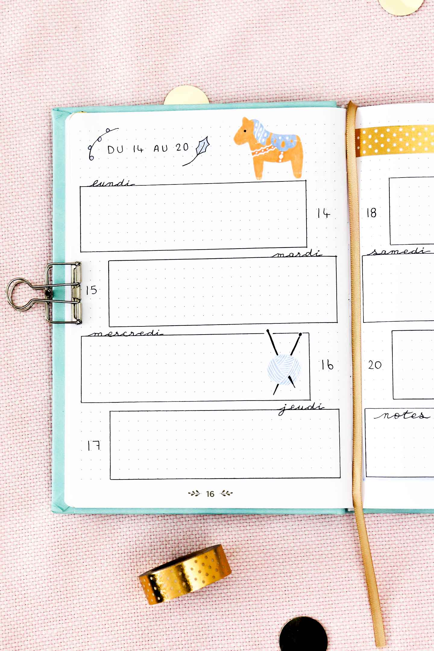 Autocollants bullet journal à imprimer