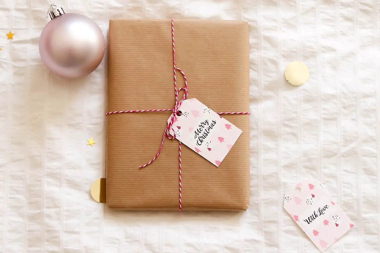 étiquettes de Noël gratuites