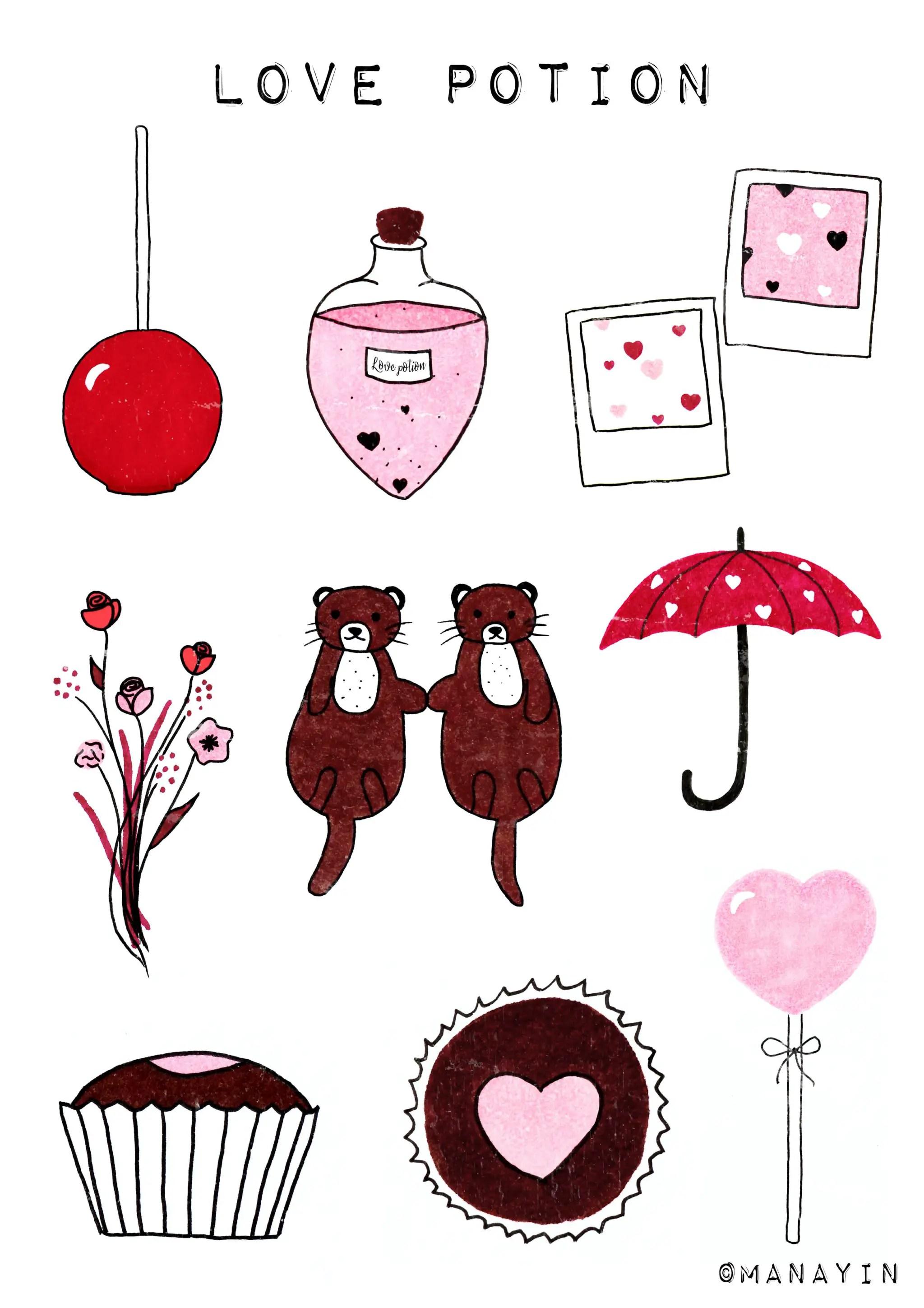 Des Stickers Pour La Saint Valentin A Imprimer Gratuitement Manayin