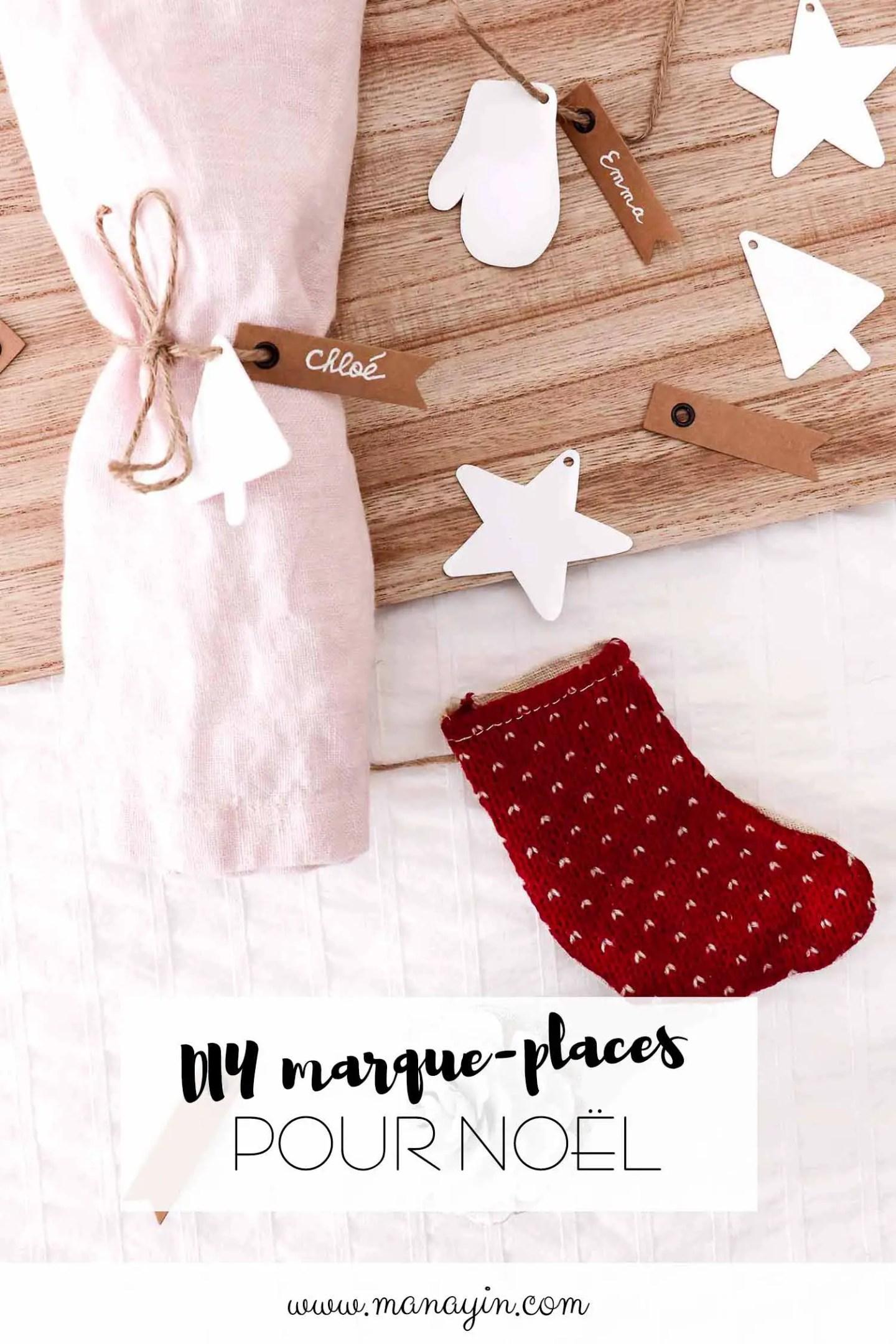 Marque-places Noël DIY