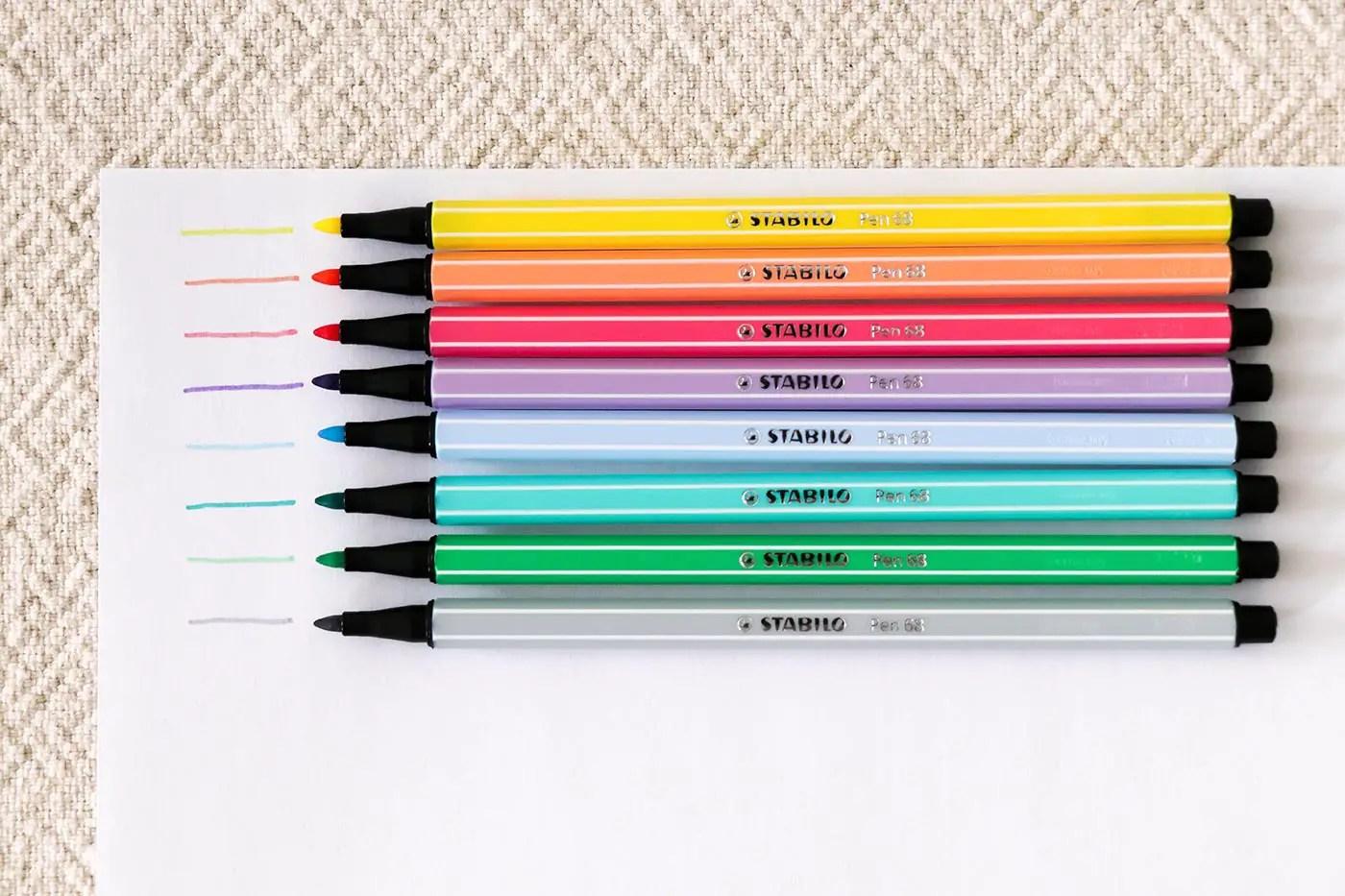 Test Stabilo gamme pastel