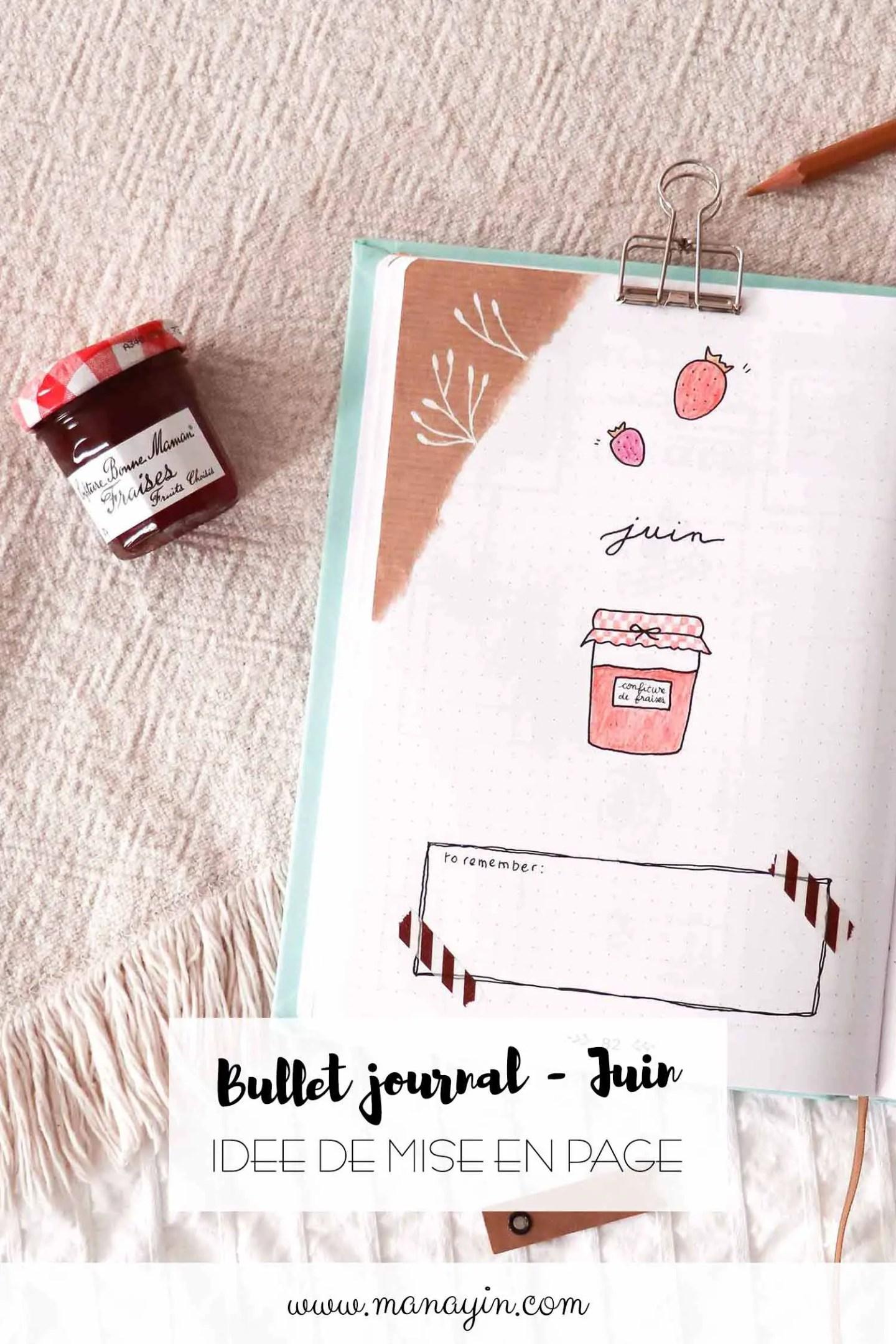 Bullet journal Juin