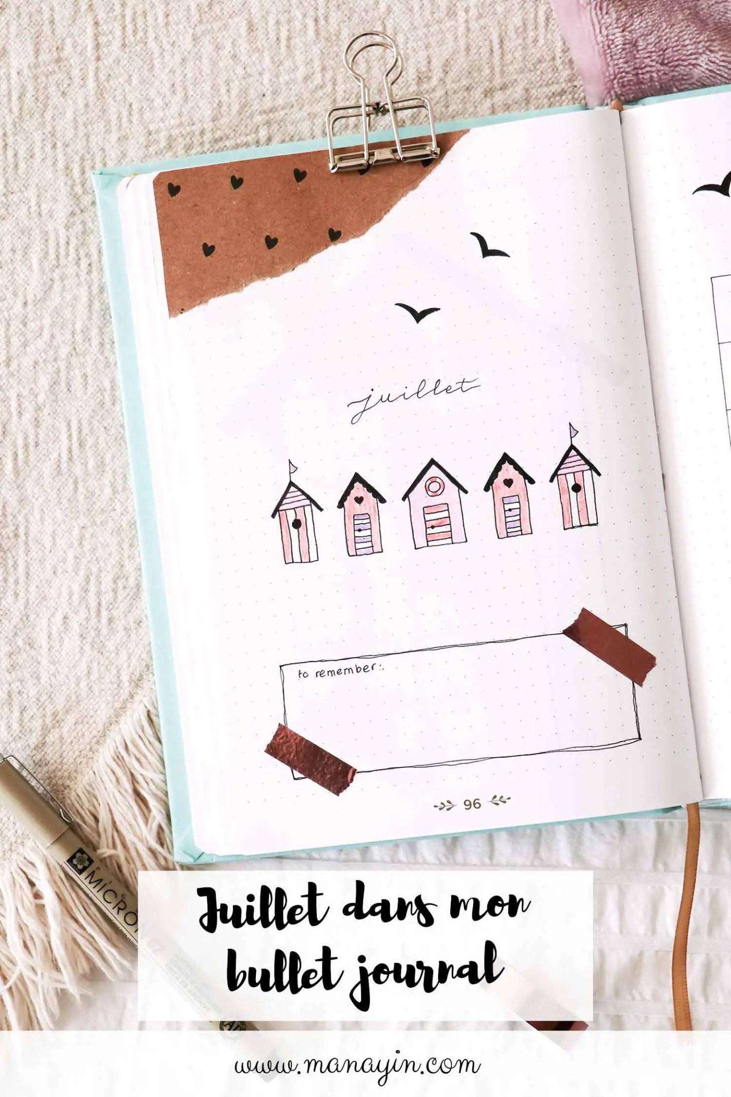 Bullet journal - Juillet