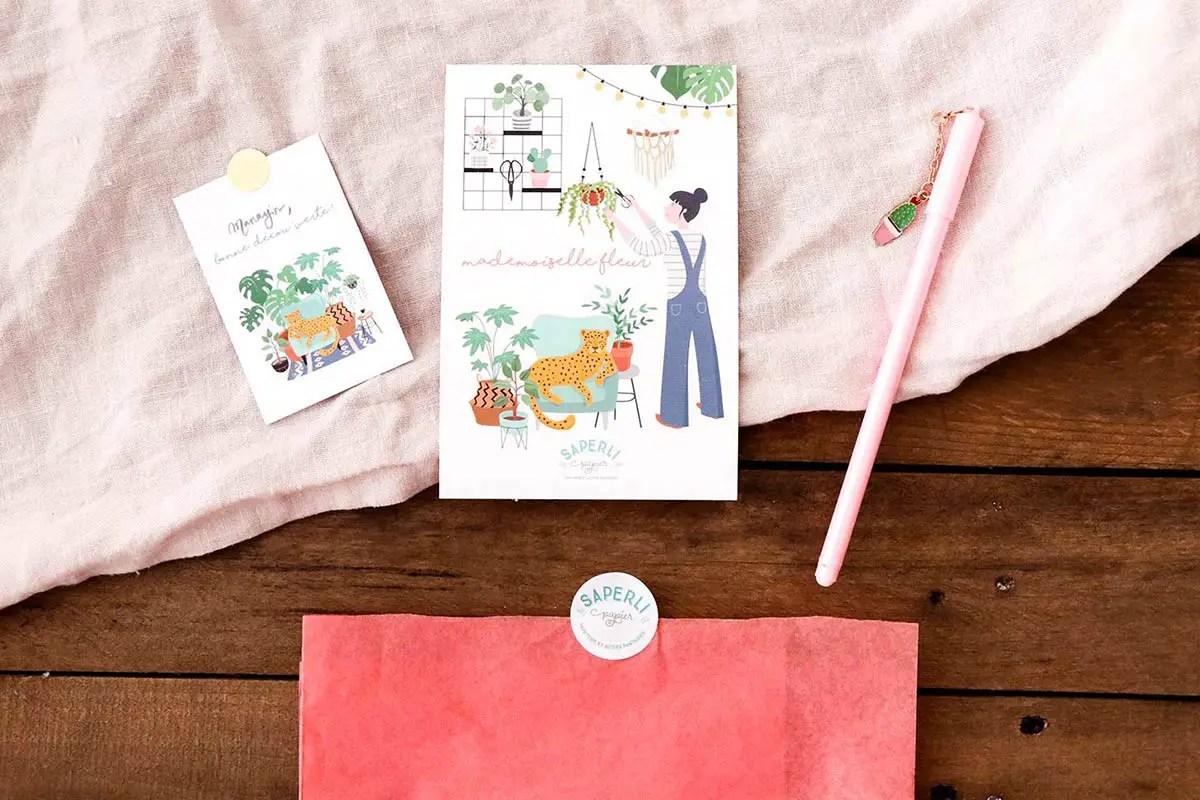 Mademoiselle Fleur de Saperlipapier : Une box DIY & papeterie