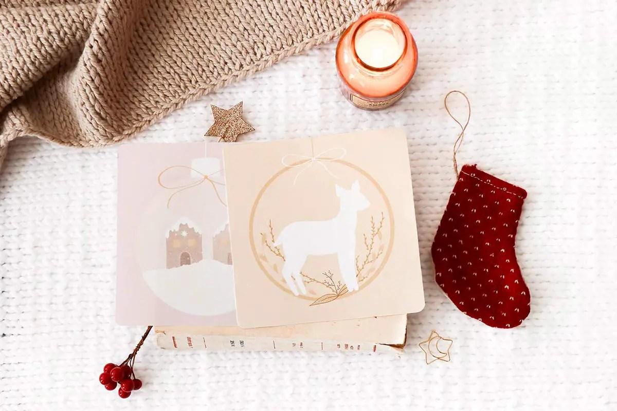 Des cartes de Noël à imprimer