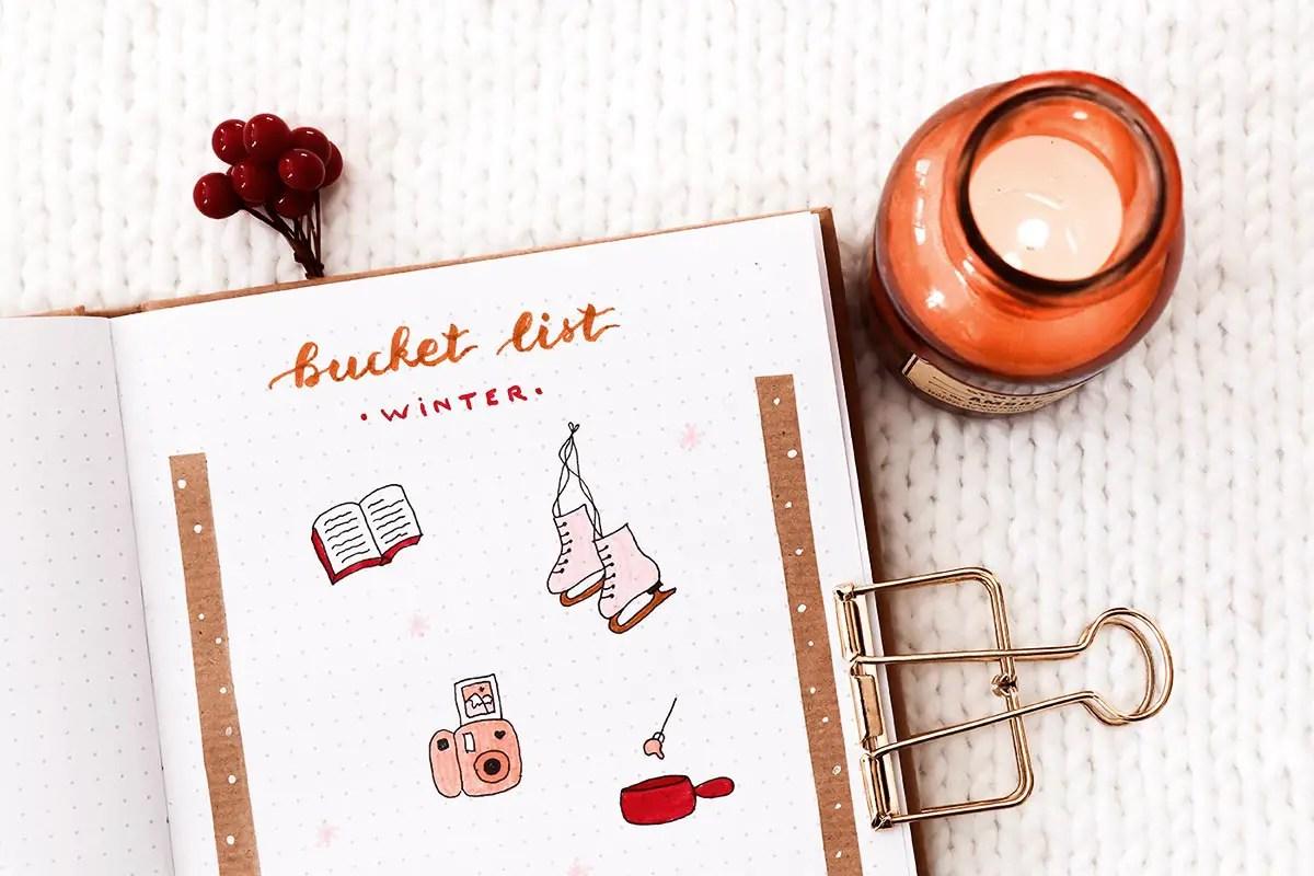 Mon bullet journal pour l'hiver : idées de pages à réaliser