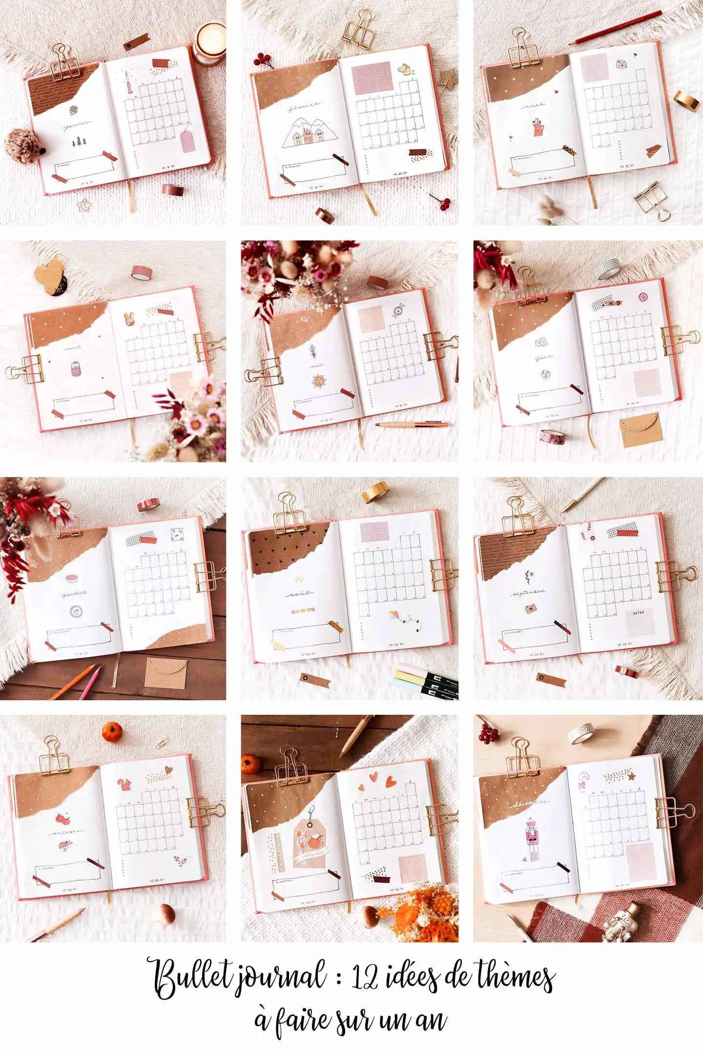 12 idées thèmes bullet journal