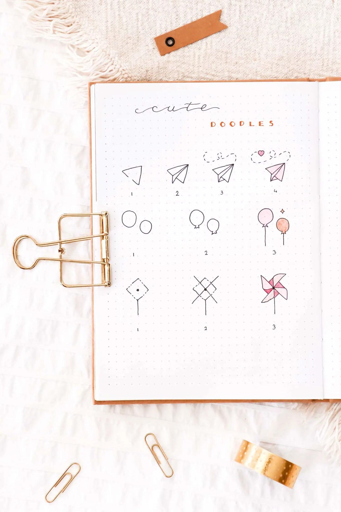 Doodles kawaii bullet journal