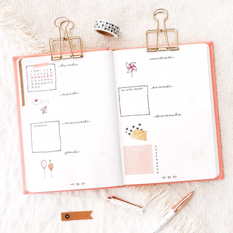 Weekly log mars bullet journal