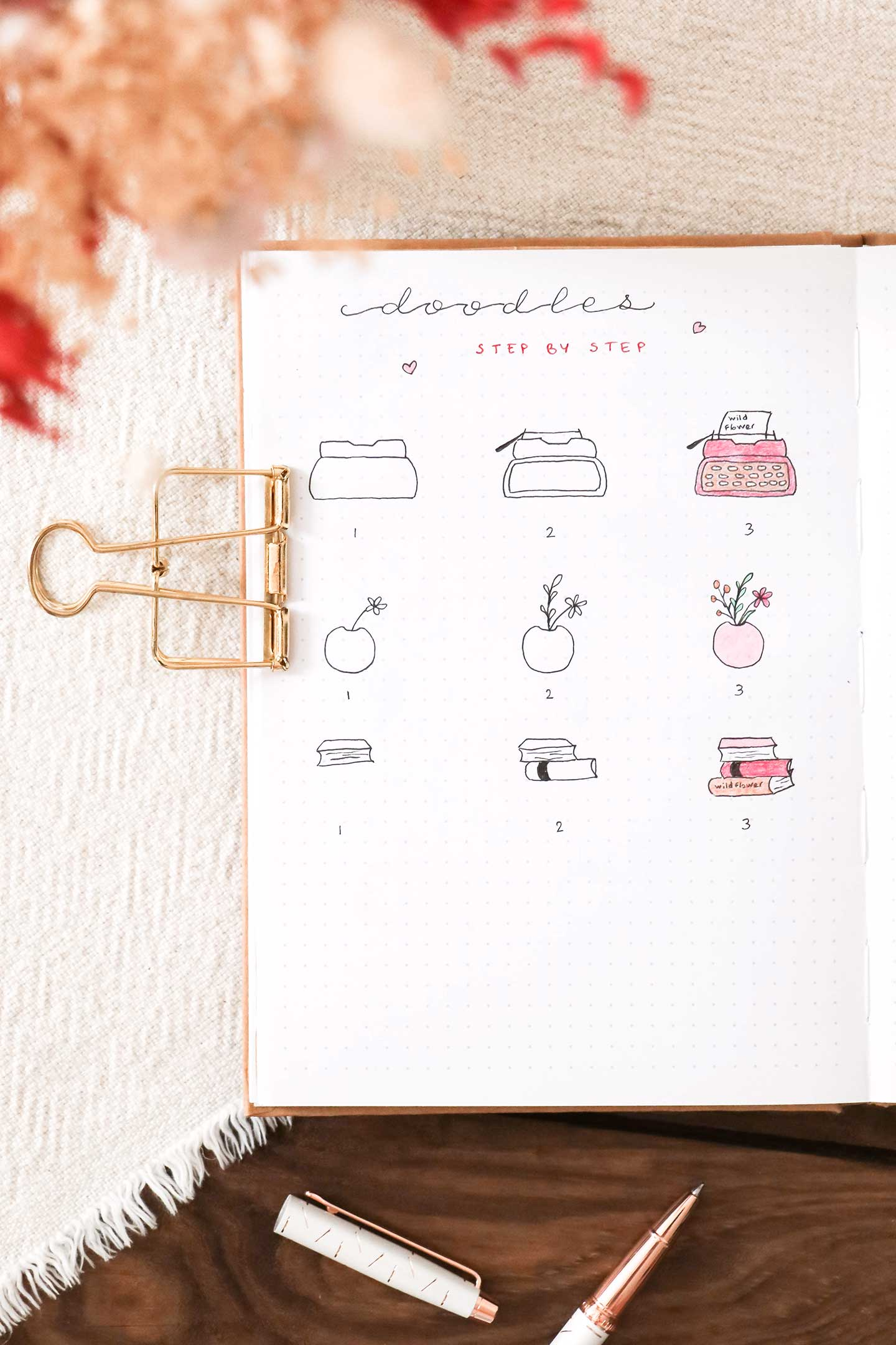 Doodles printemps bullet journal