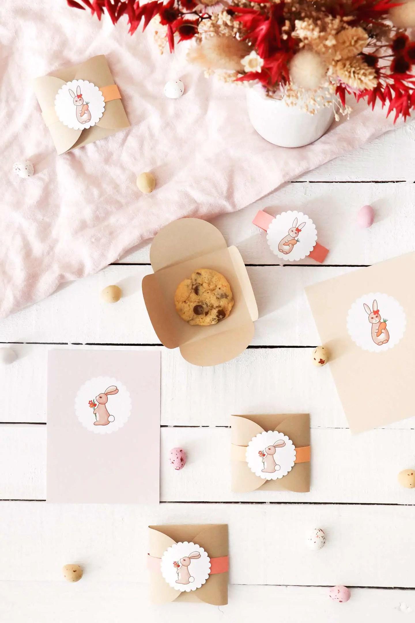 Tuto sachets biscuits Pâques