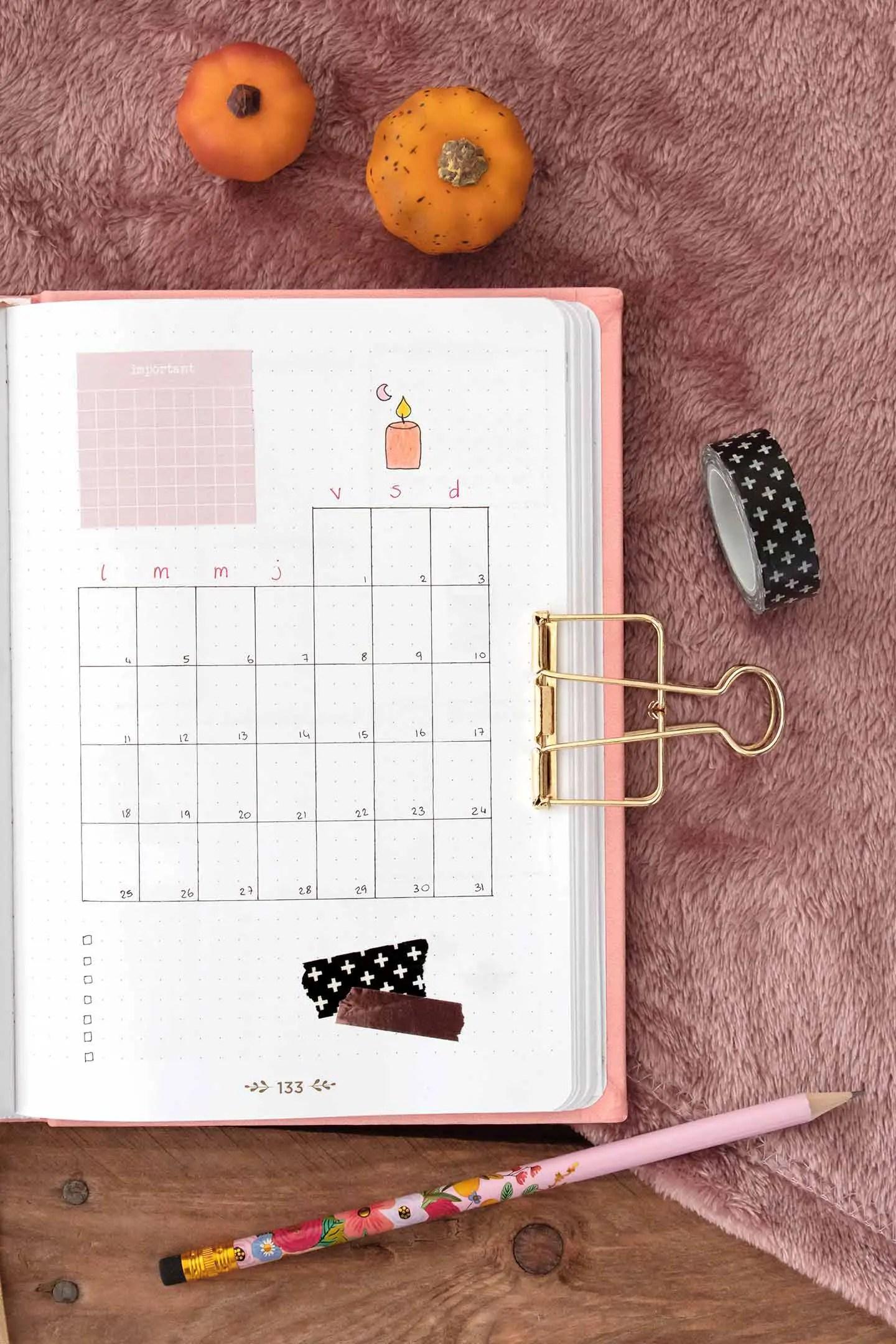 Monthly log octobre