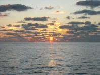 November sunset on the Gulf of Mexico