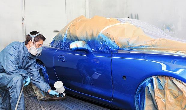 กระบวนการวาดภาพร่างกายในสีฟ้า