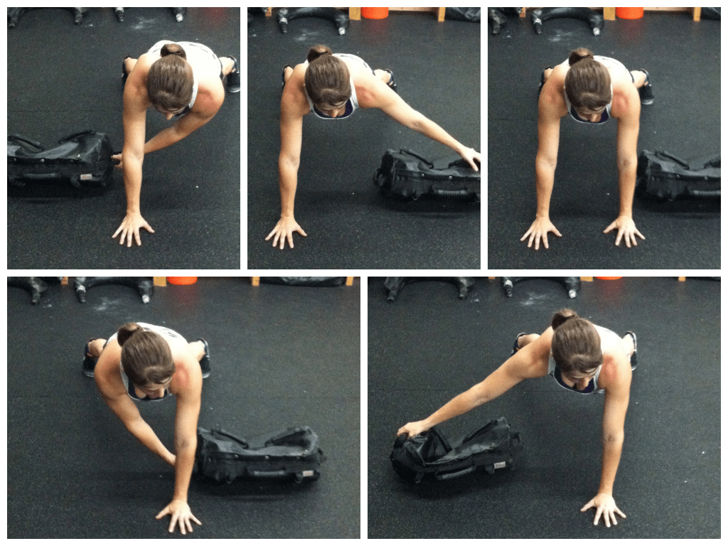 Sandbag Workout  Man Bicep