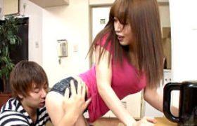 デカパイ姉貴が弟のバッキバキ硬チンでプリ尻を突かれエビ反り痙攣イキまくり!篠田ゆう