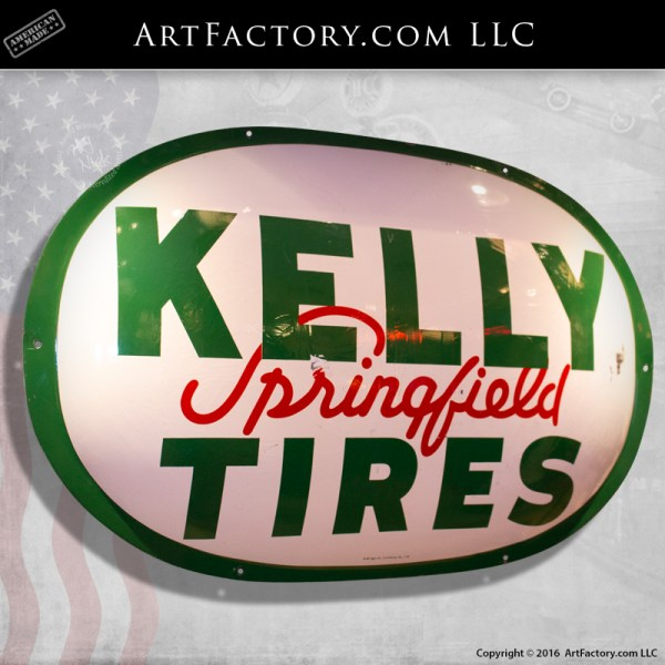 Authentic Kelly Tires Springfield Sign