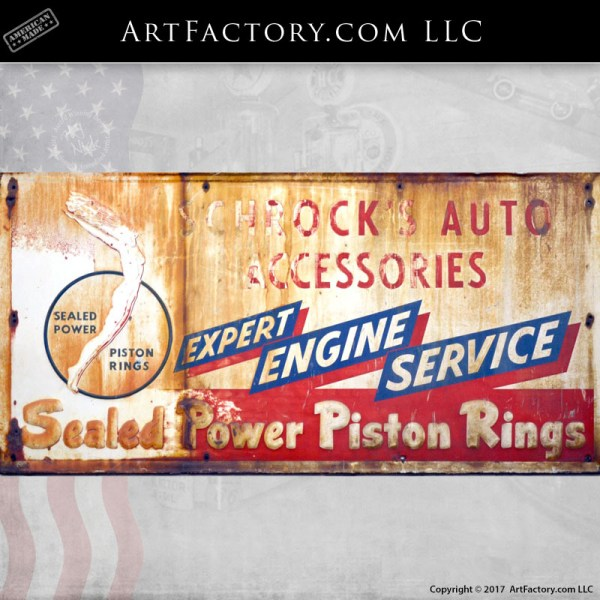 Shrock's auto accessories sign