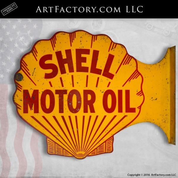 Shell Motor Oil Flange Sign