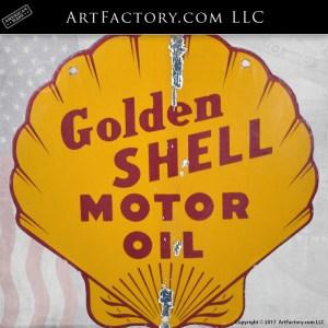 Golden Shell Motor Oil sign