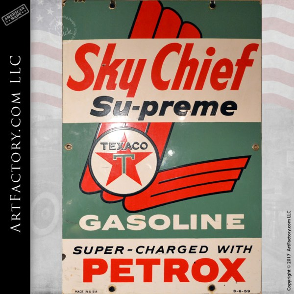 Texaco Sky Chief Supreme sign