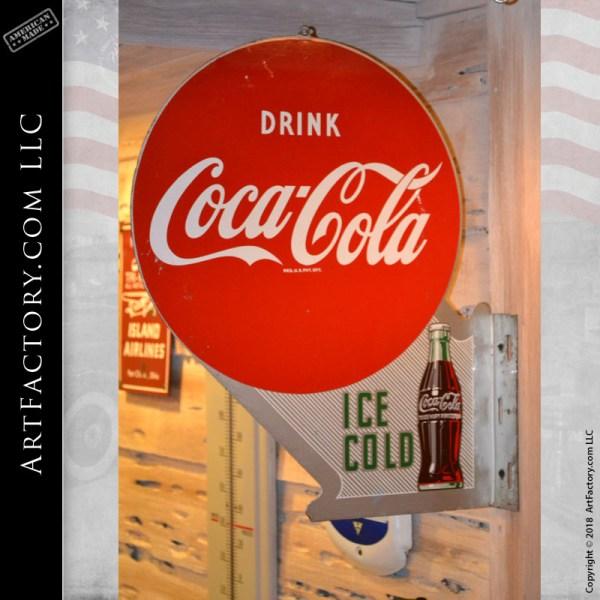 vintage Coca-Cola flange sign