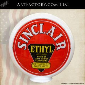 Sinclair Ethyl gas globe