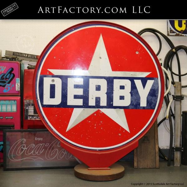 vintage Derby Gas sign
