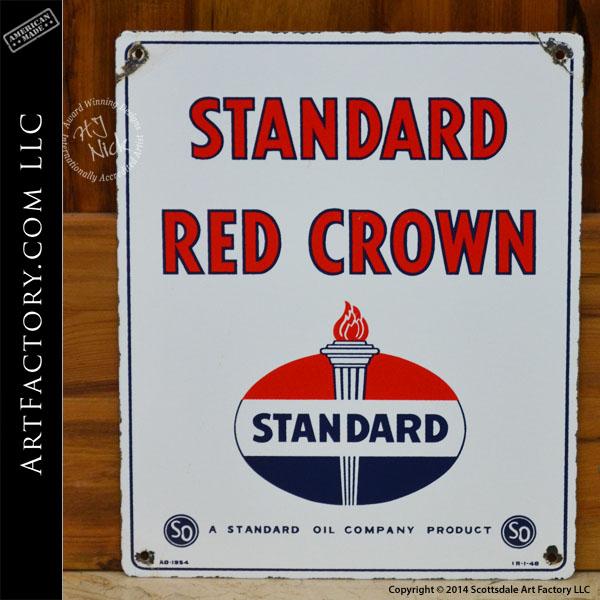 vintage Standard Red Crown sign