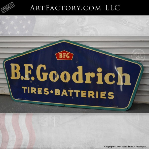 B.F. Goodrich tires batteries sign