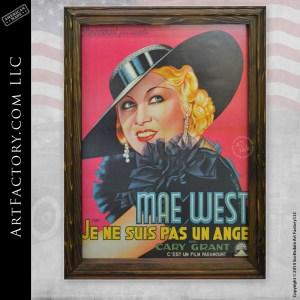 vintage Mae West movie poster