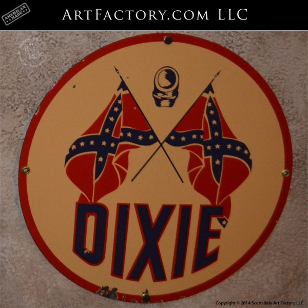 vintage Dixie Gas sign