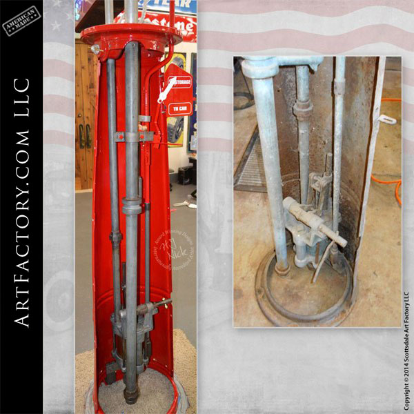 Restored Gilbert & Barker Visible Gas Pump: With Original
