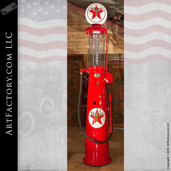 restored Texaco visible gas pump