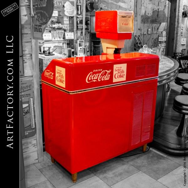 Vintage Coca Cola Vender Ice Maker Fountain