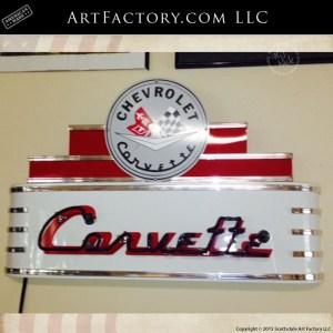 vintage Corvette neon sign