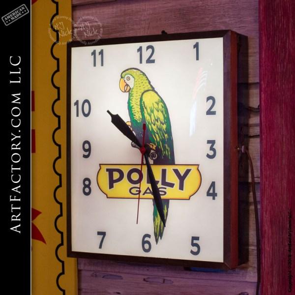 Original Working Polly Gas Clock