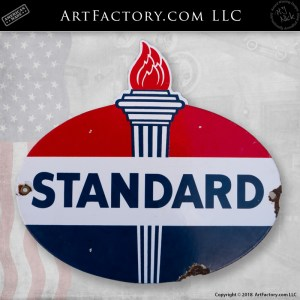 Classic Standard Oil Sign - Authentic Porcelain Petroliana