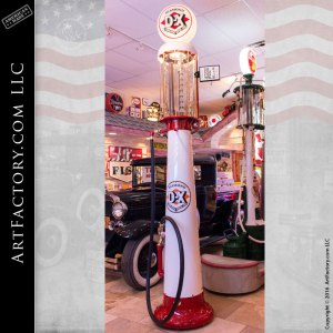 restored vintage visible gas pump