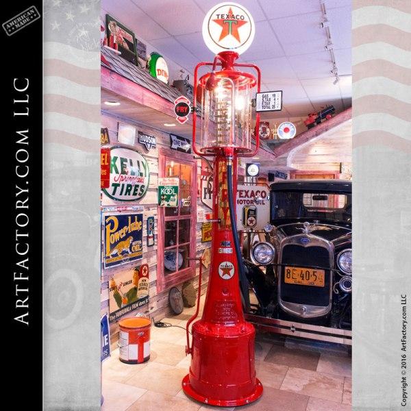 Texaco Fry Mae West Visible Vintage Gas Pump