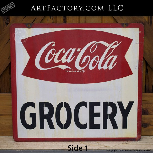 Coca-Cola Grocery Store Sign