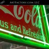 large coca cola neon sign