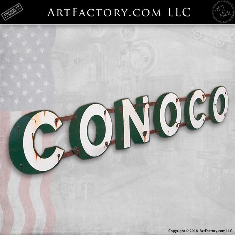 vintage conoco gas station sign