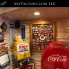 retro man cave collectibles display
