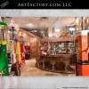 retro man cave collectibles display