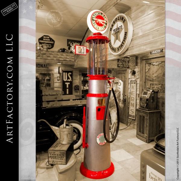 Keesee vintage visible gas pump