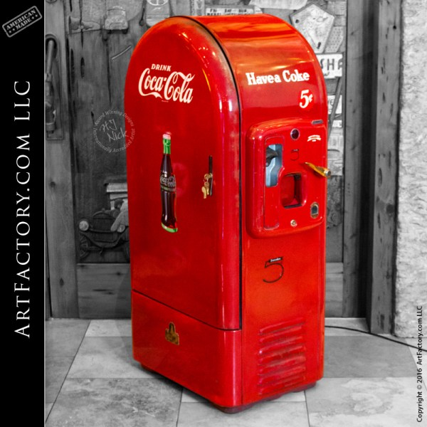 vintage Jacobs Coca-Cola 5 cent vending machine