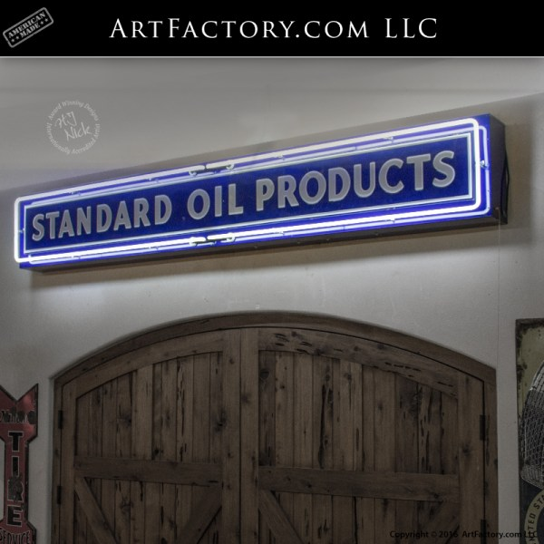 Standard Oil Products vintage neon sign